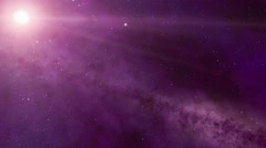 Stars and planets. movement on an orbit Stock Footage