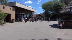 Inside The Main Entrance To Marineland Canada Stock Footage