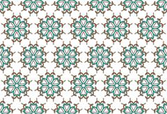 autumn floral pattern - stock illustration