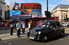 Piccadilly Circus in London, UK - stock photo
