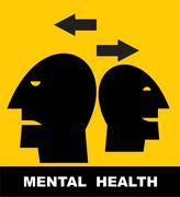 mental health - stock illustration