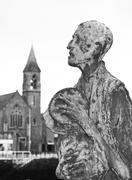 Great Famine of Ireland statues - stock photo
