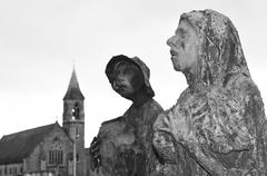Great Famine of Ireland statues Stock Photos