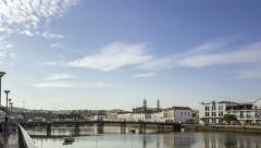 4K City of Tavira Gilão river waterfront timelapse view Stock Footage