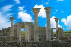 Ancient castle with columns Stock Photos