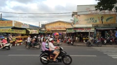 Vungtau main marketplace Stock Footage