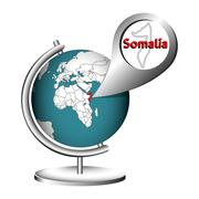 Illustration Vector Graphic Globe Somalia Stock Illustration
