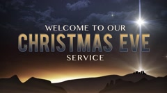 Stock Video Footage of bethlehem christmas christmas eve