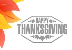 Stock Illustration of Happy thanksgiving stamp illustration