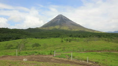 Volcano Arenal in Costa Rica Stock Footage