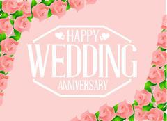 Happy weeding anniversary seal Stock Illustration