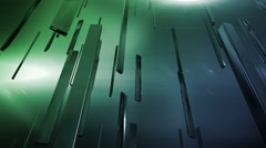 displace blue green - stock footage