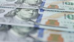 USA hundreds dollars banknotes close up Stock Footage