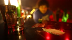 Use of drugs in the Bar. Stock Footage