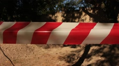 Caution safety barricade tape Stock Footage