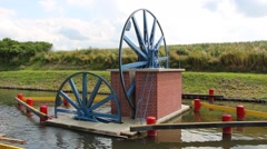 A unique monument of hydraulic engineering. The ramps on the Canal Elblag, Po Stock Footage