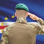 National military forces with flag on background conceptual series - Cape Ver Stock Photos