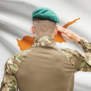 National military forces with flag on background conceptual series - Cyprus Stock Photos