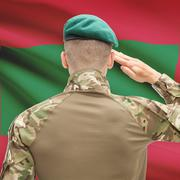 Stock Photo of National military forces with flag on background conceptual series - Maldives