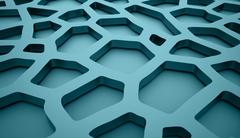Blue abstract meshes background concept - stock illustration