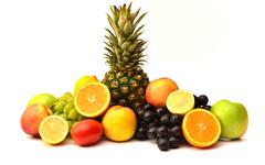 Tasty Fruits. Organic Food. Natural Fruits. - stock photo