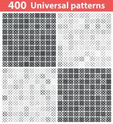 Stock Illustration of 400 universal patterns set