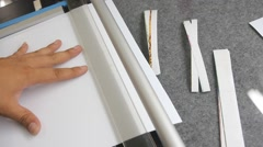 Close up of paper cuting Stock Footage