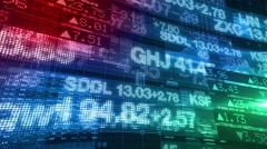 Stock Market Tickers - Digital Data Display Stock Footage