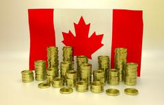 Finance concept with Canadian flag Piirros