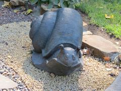 Original snail sculpture - stock photo