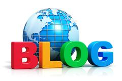 Internet blog concept Stock Illustration