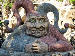 Wooden Jester Sculpture Stock Photos