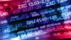 Stock Video Footage of Stock Market Tickers - Digital Data Display