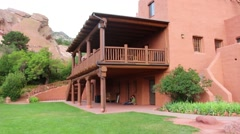 Stock Video Footage of old building at red rocks amphitheatre