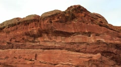 Huge red rock formation Stock Footage