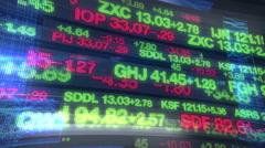 Stock Market Tickers - Digital Data Display - stock footage