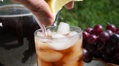 Iced tea with lemon Stock Footage