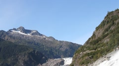 Nugget falls and Mendenhall glacier Stock Footage