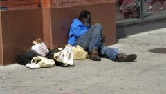 homeless black man - stock footage