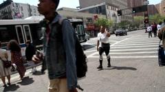 Harlem street footage Stock Footage