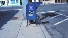Box Mail of 12TH Street  Bayonne City N. J. USA. 4K Stock Footage