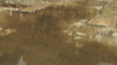 Video of a puddle in the Bar'am ruins shot in Israel. Stock Footage