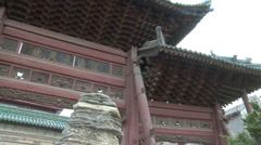 Great Mosque hall, Xian, China Stock Footage