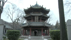 Chinese pavilion, Great Mosque, Xian, China Stock Footage