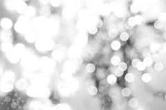 Abstract grey and white defocused bokeh circles background Stock Illustration
