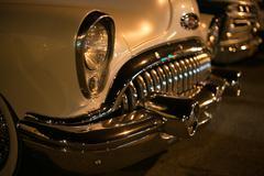 antique car transportation - stock photo