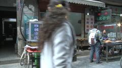 Muslim Quarter street food, Xian, China Stock Footage