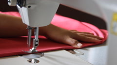 Sewing machine. - stock footage