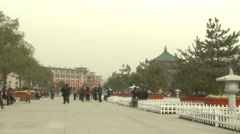 Drum Tower square, Xian, China Stock Footage