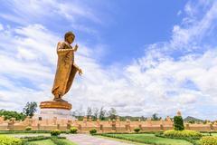 Phra Buddha Metta Pracha Thai Trai Lokanat Gandhara Anusorn memorial statue,  Stock Photos